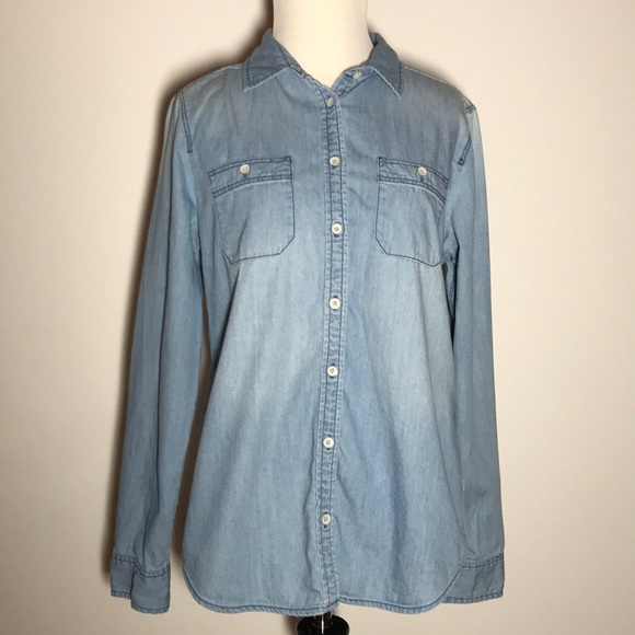 STYLUS Tops - STYLUS Chambray Shirt, Size M, Like New